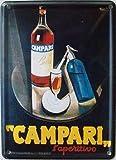 Mini-Blechschild Campari, 8 x 11 cm