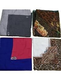 Istanbulbazaar/® 2 er Pack Kopftuch Scarf Hijab Halstuch Schleier Dekotuch Yazma Schultertuch Fliederweich Kashmir Mehrfarbig
