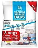 Vacuum Storage Bags - Pack of 8