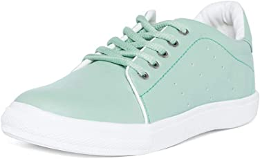 VENDOZ Women White Sneakers Casual Shoes
