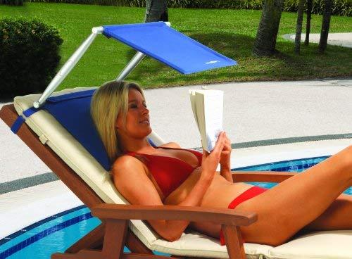 MIK funshopping Sonnenschirm/Sonnenblende CUSH N Shade für Strand, Pool + Wiese.
