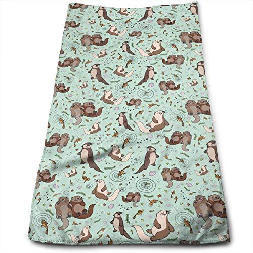 QuGujun Best Bath Towels Sea Otters Super Soft Absorbent Sports/Beach/Shower/Pool Towel (Tan Geschirrtücher)