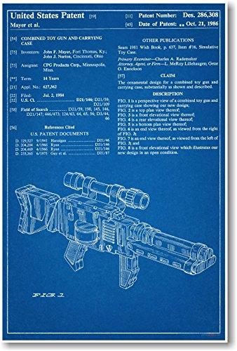 Action-figur-tragetasche (Star Wars Jedi Blaster Tragetasche Patent–NEU berühmten Erfindung Blueprint Poster)