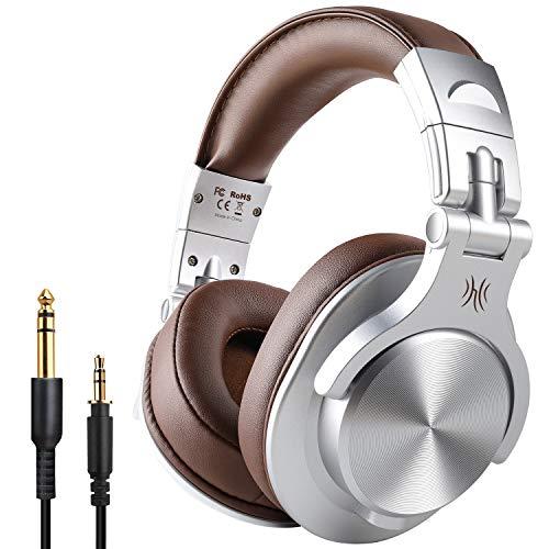 Casque Bluetooth sans Fil OneOdio Casque Audio Fermé DJ Casque Studio Professionnel Casque Filaire Casque Monitoring avec Prise 6.35 & 3.5mm pour Piano Guitare AMP SmartphoneTablettePC