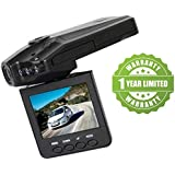 Exosis Car DVR Dash Cam Driving Recorder Mini Portable 1080p HD Cam Compatible With Xiaomi, Lenovo, Apple, Samsung, Sony, Oppo, Gionee, Vivo Smartphones (One Year Warranty)