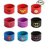 U&X Stücke Superhelden Slap Armbänder Partei für Kinder Enthält Superman, Spider-Man, Iron Man