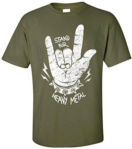 ... TRASH SPEED ROCK MUSIC Oliv. PAPAYANA - STAND-FOR-METAL - Herren T-Shirt  - HEAVY METAL HARDROCK