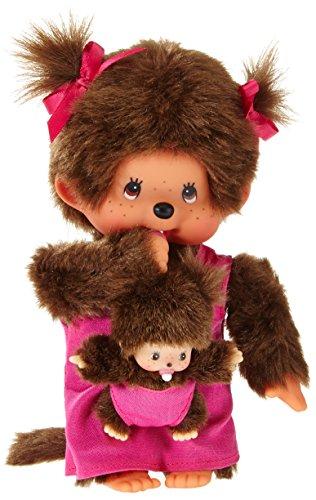 Monchhichi-Kiki-maman-avec-enfant-Rose-20-cm