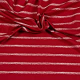 Hilco Jersey Sea Stripes Rot I`m sew happy Baumwolljersey