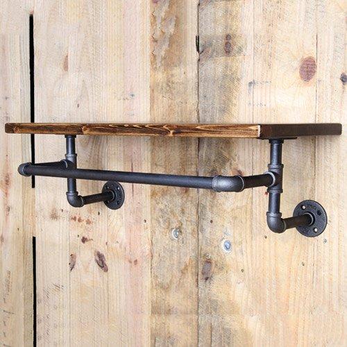 Hängende wand Platte loft Wasserleitung Regal Regale ein Wort Schindeln aus massivem Holz Wand Körper Racks Handtuchhalter, $Anzahl lange und breite