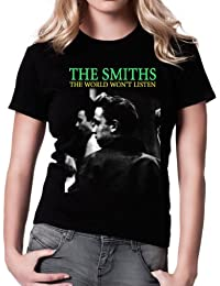 Morrissey and The Smiths Smiths The World Won't Listen Women's Fit Fashion Quality Heavyweight T-Shirt.