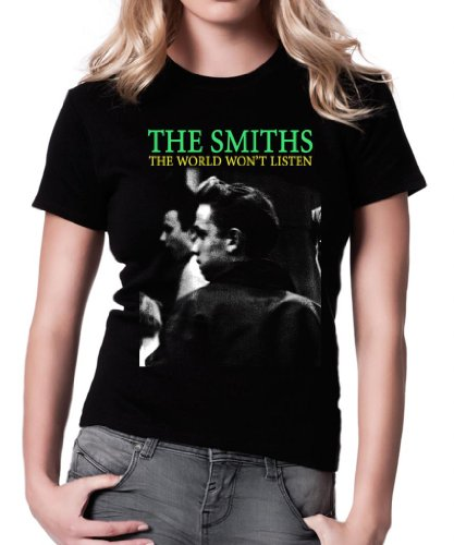 The Smiths The World Won'T Listen Women's Fit Fashion Qualitativ hochwertiges T-Shirt.