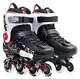 CASEY-L Chaussures à roulettes Fantaisie, Chaussures Plates Adultes Inline Skates Enfants Et Homme Noir Taille Personnalité De La Mode EU38