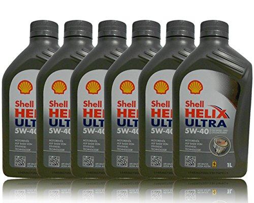 Shell Helix Ultra 5w40 Olio Motore 100% sintetico 6 barattoli da 1 litro = 6 Lit