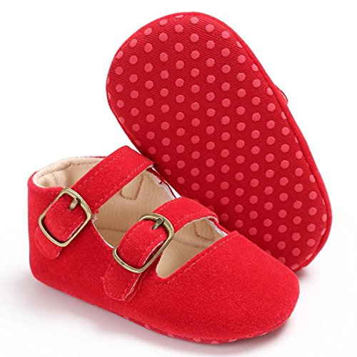 Igemy 1Paar Baby Schuhe Jungen Mädchen Neugeborene Krippe Soft Sole Schuh Sneakers Rot