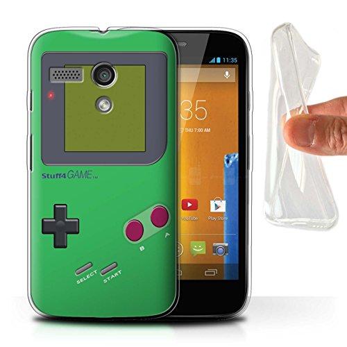 Stuff4 Gel TPU Hülle / Case für Motorola MOTO G (2013) / Grün Muster / Videogamer/Gameboy Kollektion - Case Moto Gameboy G Motorola