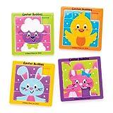 Baker Ross Puzzle a scorrimento amici pasquali (confezione da 4) - Da inserire in buste regalo pasquali o come regalini per bambini