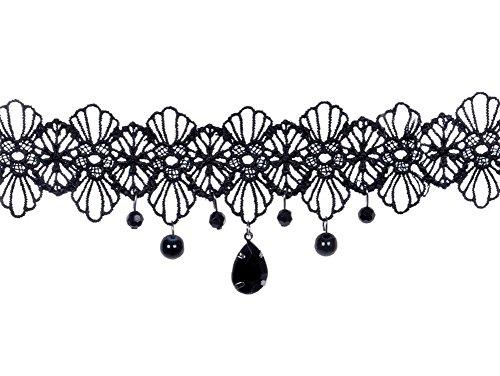 Hosaire Choker Halsband für Damen und Mädchen, schwarz, klassische Tattoo-Spitzen – Bester Schmuck für Sommerkleider