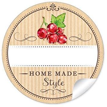 24 sticker 24 sch ne marmeladenetiketten f r die k che in natur mit illustrierten schwarzen. Black Bedroom Furniture Sets. Home Design Ideas