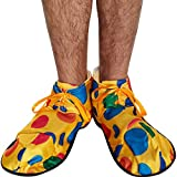 OVERSIZED CLOWN SHOES COVER CIRCUS YELLOW POLKA DOTS FANCY DRESS ACCESSORY