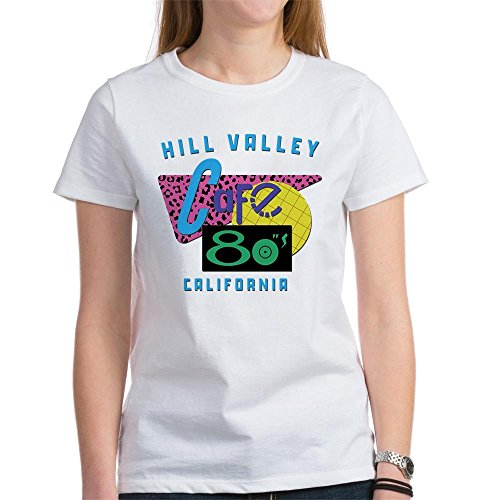 CafePress - Cafe 80'S - Womens Crew Neck Cotton T-Shirt, Comfortable & Soft Classic Tee
