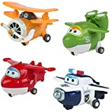ColorBaby - Lote 4 Super Wings transformables : Jett, Mira, Paul y Grand Albert (75866)