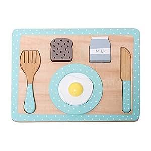 Bloomingville Holzspielzeug Frühstücks Set Puzzle Mini Serie