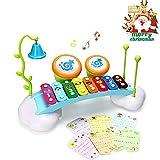 ACTRINIC Baby-Spielzeug Xylophon für Kinder Regenbogen Xylophone Brücke mit 8
