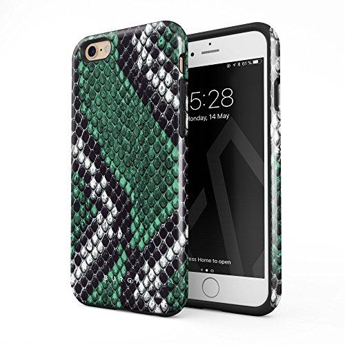 Burga cover iphone 6/6s verde pelle di serpente emerald cobra savage green snake skin robusto resistente agli urti ed a doppio strato + custodia protettiva in silicone case