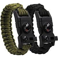 schwarz 10pcs PACK schwarz 5//20,3 cm Kompass Flint Schaber Fire Starter Whistle Schnalle Kunststoff Paracord Armband Outdoor Camping Notfall /Überleben Travel Kits # flc158-fwc