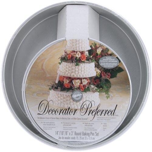 Wilton Decorator Preferred Runde Pfanne-Set inkl. 6/10/35,6cm Pfannen (Pfannen Wilton Runde Kuchen)