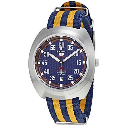 Seiko5 Sports 100M Reloj retro automático de edición limitada azul SRPA91K1