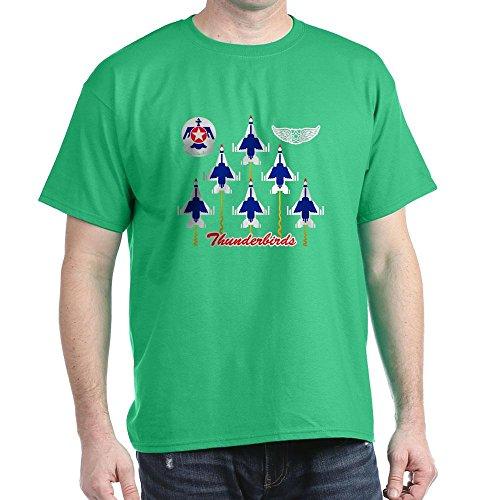 CafePress-Thunderbirds Dark T-Shirt-100% Baumwolle T-Shirt Gr. Medium, Kelly Green -