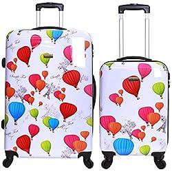 Karabar Dewberry juego de 2 maletas duras, Blanco