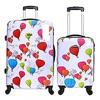 Karabar Dewberry Set of 2 Hard Shell Suitcases, Balloons