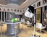 LU KU Pavimento Capelli Vapore Stand up Capelli Colore processore Salon Capelli Cappuccio Dryer Professionale Parrucchiere Styling Timer Parrucchiere Attrezzature per Barbiere Salone,Black