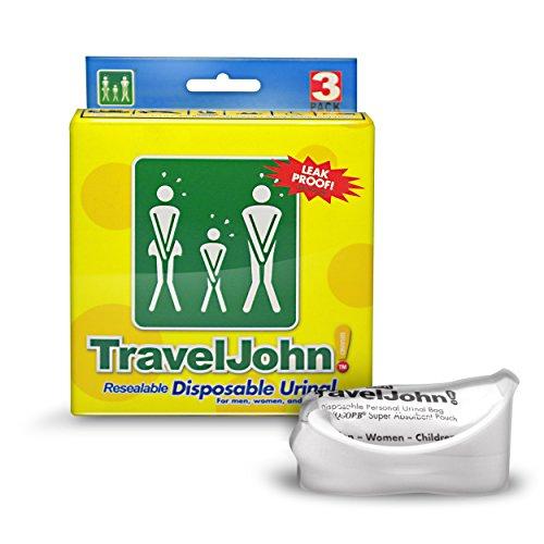 TRAVEL JOHN Wegwerf Urinal 3 Stück -