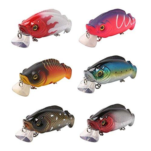 Schwimmender Erlitzen-Angelköder ausJapan von Mookzz, für Salzwasser/Süßwasser-Fische, wie Barsch, Forelle und Zander, A & B & C & D & E & F