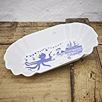 Pommesschale Porzellan - Handgemacht von Ahoi Marie - Motiv Bootshaus - Maritime Currywurst-Schale original aus dem Norden