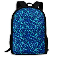 Wfispiy Blue Shape Triangle Backpack Children Cool School Bag Pattern Girls Boys Day Pack