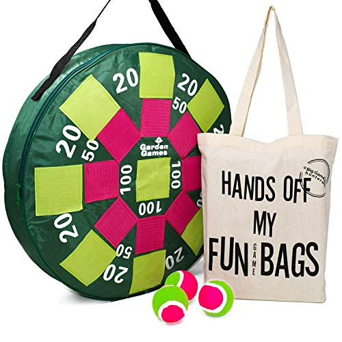 Target Toss Giant Inflatable Dart Board with Balls and A Thick Cotton Carry Bag, Outdoor Garden Game