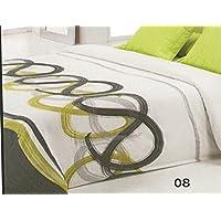 Reig Martí Livorno - Juego de funda nórdica estampada, 3 piezas, para cama de 135 cm, color gris