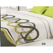 Reig Martí Livorno - Juego de funda nórdica estampada, 3 piezas, para cama de 150 cm, color gris