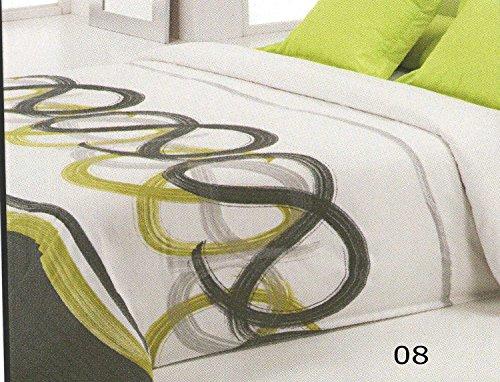 Reig Martí Livorno - Juego de funda nórdica estampada, 3 piezas, para cama de 105 cm, color gris
