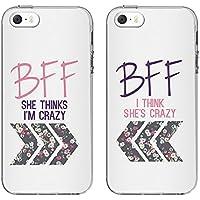 iPhone 5/5S/5Se casos, ttott amantes o mejor amigo casos, Slim