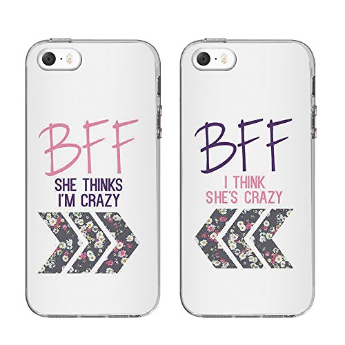 Apple iPhone 5/5S/5 C/5Se cas, ttott amoureux ou Best Friend cas, FIN Bumper de protection anti-griffes élégant imprimé Patterns Coque pour iPhone 5/5S/5Se, 5/5S/SE-1, iphone 5/5s/se 5/5S/SE-1