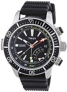 Timex - T2N810D7 - Intelligent - Montre Homme - Quartz Analogique - Cadran Noir - Bracelet Résine Noir
