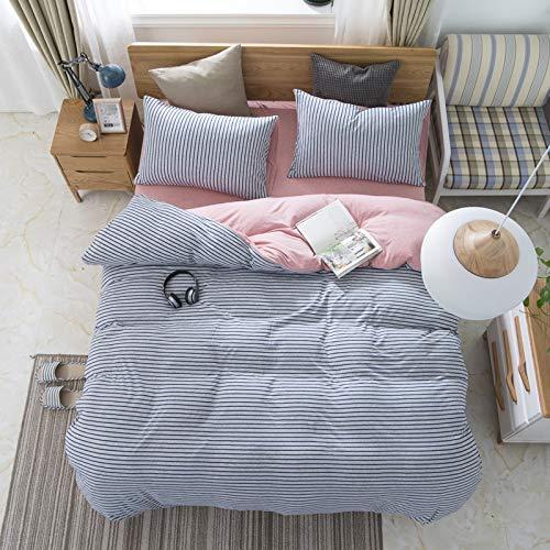 Vierteiliges Bettset Nicht bedrucktes Bettbezugbett 4 Sätze einfache Bettlaken, 1,5 Bettüberwürfe, HV-215