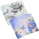 MAXGOODS 2 Pacco Tovaglioli Di Carta Da Tè, Intrattiene Con Farfalle Tovaglioli Di Carta Da Cocktail, Farfalle/Libellula Stampate, Per Il Ringraziamento o Il Compleanno, 13'x 13'