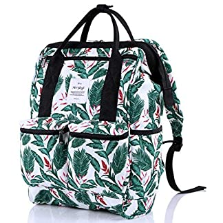 51Zgny5XlLL. SS324  - HotStyle DISA Mochila Floral Vintage Mujer para Notebook 14-Inch (44x27x17cm)